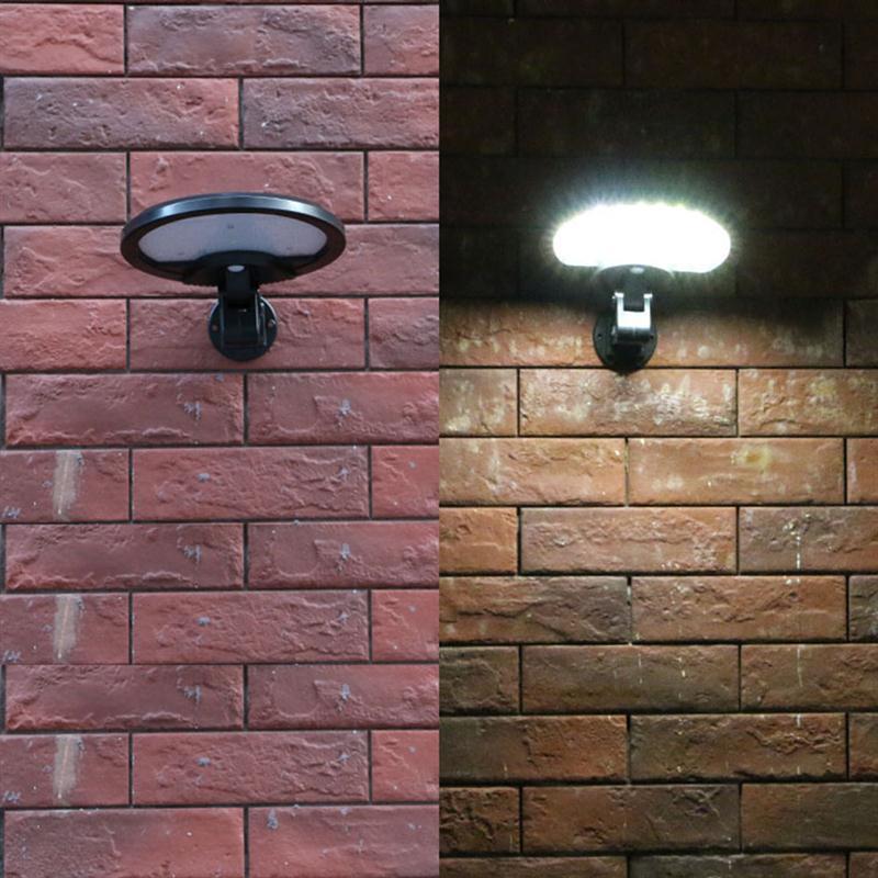 ФОТО Solar Wall Lamp IP65 Waterproof Motion Sensor Led Wall Light For Outdoor Garden Lighting