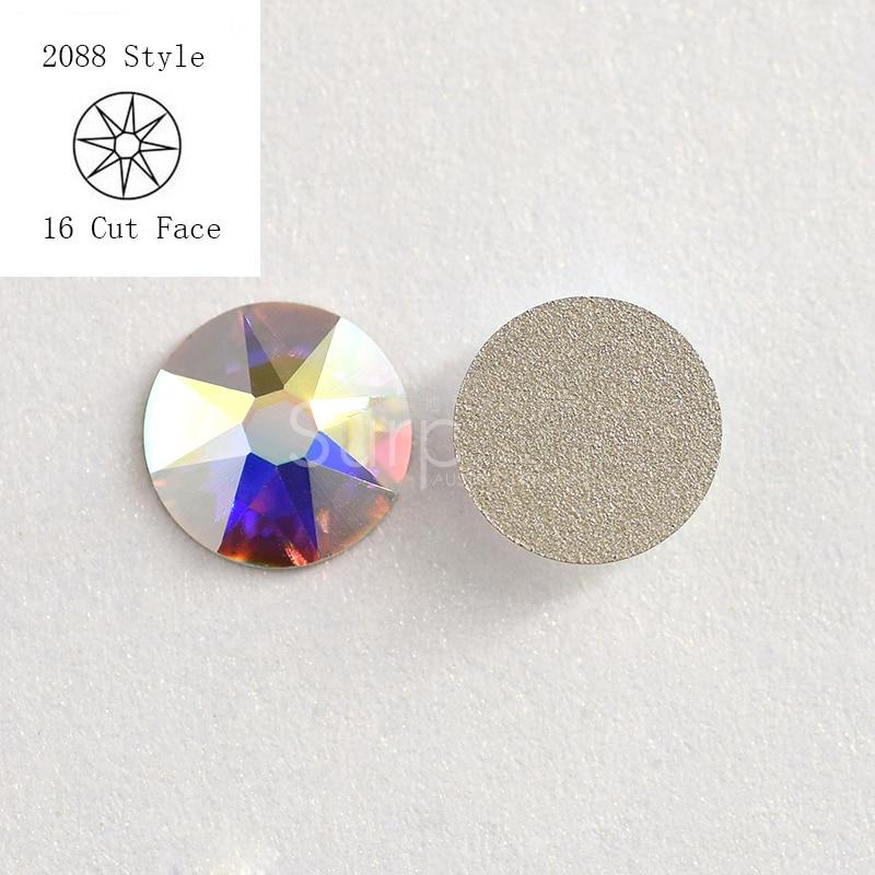 SWA Crystal Rhinestone сияқты 1440pcs / Lot ss20 4.6-4.8mm кристалды AB Nail Art желімі On түзетілмеген Rhinestones Rhinestones