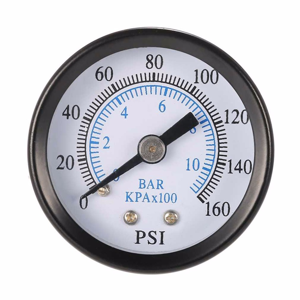 2016 Newest Professional 1/8 Inch 160 Psi 0-10bar Compressor Compressed Air Pressure Gauge Small Double Scale Measurer Ts-40