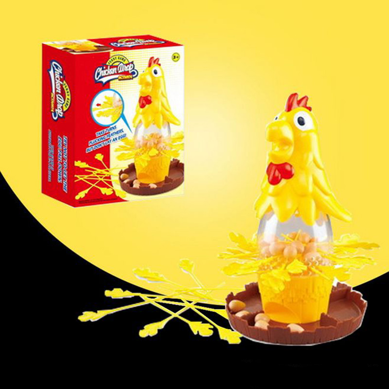 Chicken Don T Drop Egg Game Child Exciting Fun Pull Out Feathers Toy