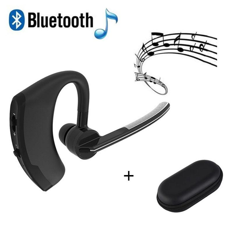 Business Sport Handsfree Bluetooth V4 1 Wireless Earphone Voice Control Ear Hook Car Driver Stereo Earphone