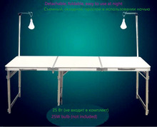 Mueble Folding Dining Table Outdoor Aluminum Alloy Tables Loading 25kg with Light Pole Use at Night Tables 180cm Length
