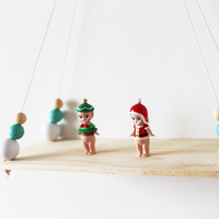 Simple Nordic Baby Room Wooden Beads Wall Shelf Wall Decorations Photography Props Decor Organization Hanger Christmas Gifts