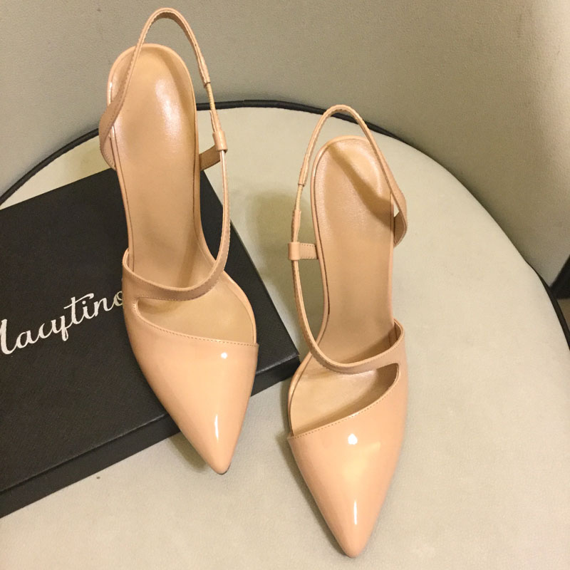High quality real leather pointed toe high heeled pumps Fashion women 39 s high heeled shoes Chic party shoes EU35 41 SIZE BY658 in Women 39 s Pumps from Shoes