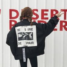 Coats Special Offer New Spring 2017 Korean Female College Black Long Sleeve Patch Pilot Jacket Students Baseball Pink Jacket
