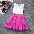 Lovely Girls Vestidos de Princesa de Encaje con Cuentas de Verano Niños Sundress de los Vestidos Sin Mangas de Flores Vestidos de Las Muchachas ropa Para Niños