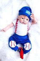 50cm 20 Inch Reborn Baby Boy doll Lifelike Silicone Babies vinyl Newborn Real Touch Baseball Doll boy reborn Kids Birthday Gift