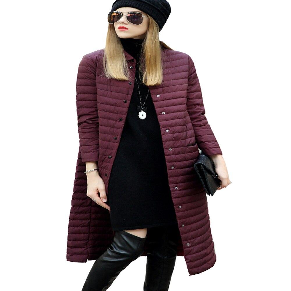 ФОТО 2017 Winter Duck Down Jacket Women X Long Thin Coat Parkas Female White Duck Down Jackets for Women New Style Winter Coat Female