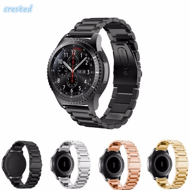 CRESTED Stainless Steel Band For Samsung Gear S3 Class/Frontier/Galaxy Watch 46m