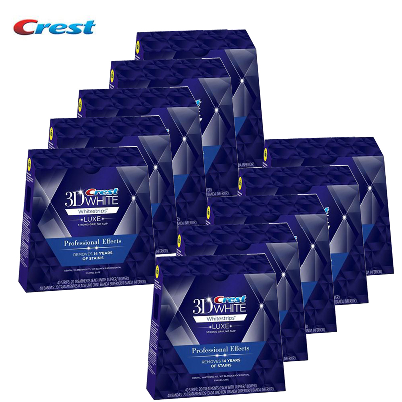 White strips Crest 3D Professional White LUXE Teeth Whitening 10Boxes 400 whiteStrips Dental Tooth whitening strips Oral Hygiene pro teeth whitening oral irrigator electric teeth cleaning machine irrigador dental water flosser teeth care tools m2