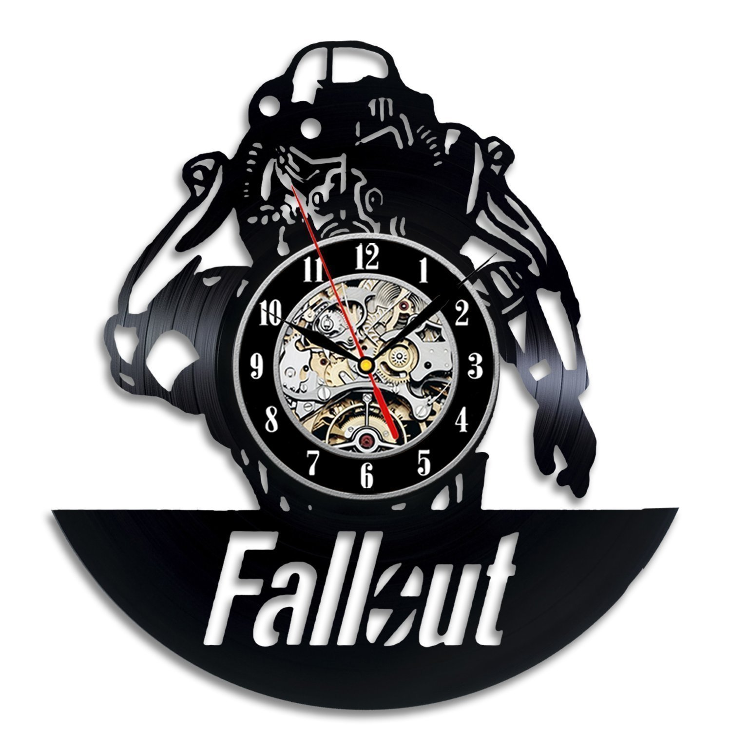 Vinyl Record Wall Clock Modern Design Living Room Decoration Vintage Retro Style Fallout Clocks Wall Watch Art Home Decor 12