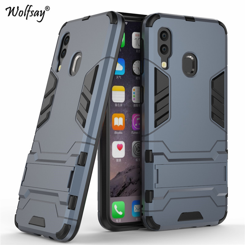 For Samsung Galaxy A40 Case Luxury Slim Armor Rubber Hard Phone Case For Samsung Galaxy A40 Back Cover For Samsung A40 Fundas in Fitted Cases from Cellphones Telecommunications
