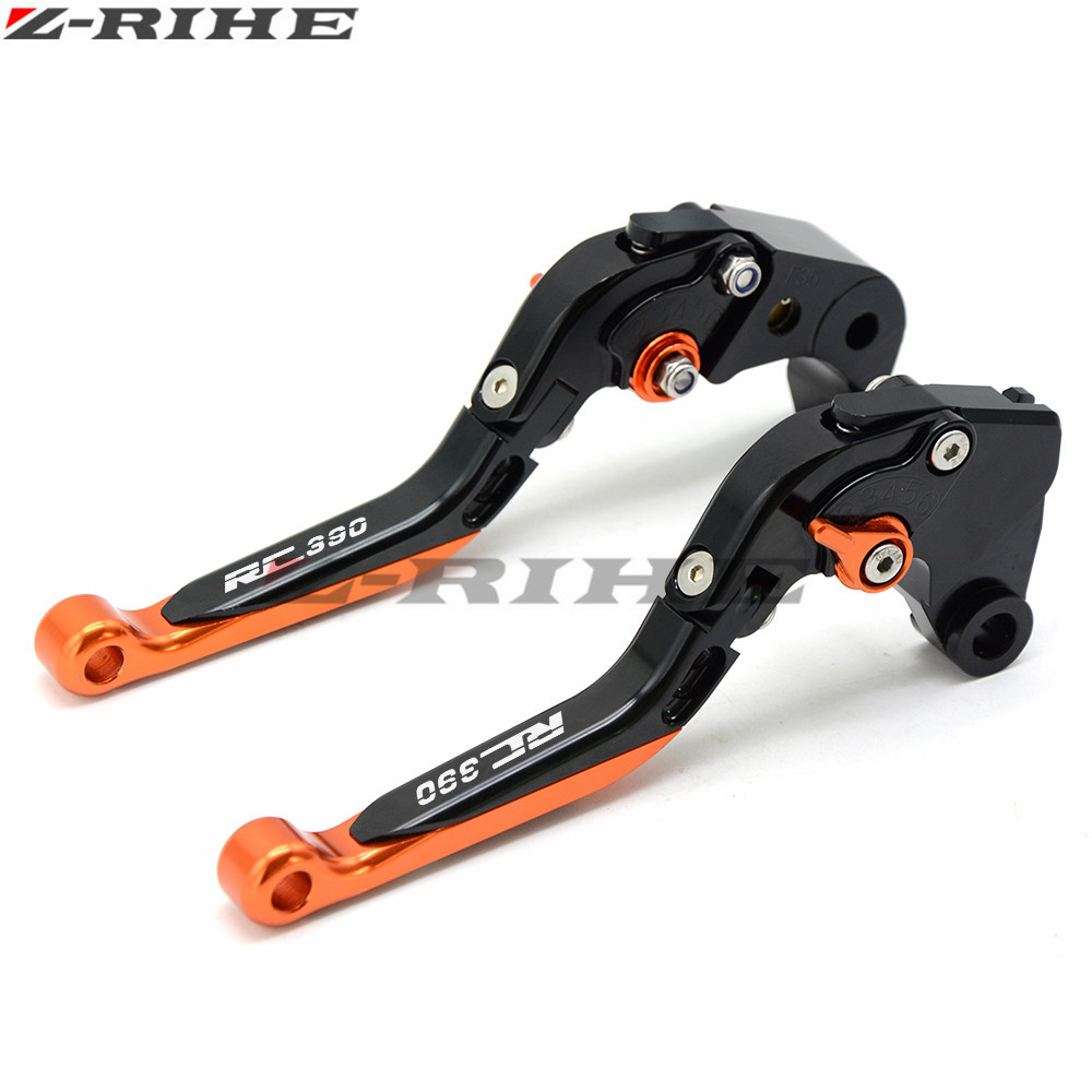 FOR RC390 LOGO Adjustable Foldable Extendable Motorbike Brakes Clutch CNC Levers for KTM 390 Duke/RC390 2013 2014 2015 2016 for yamaha cnc adjustable foldable extendable motorbike brakes clutch levers for yamaha r6 yzf r6 yfz r6 2005 2016 yfzr6 logo