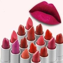1 Unids Marca del Lápiz Labial Maquillaje de Belleza Para Las Mujeres Rosa Bebé Bálsamo de Labios Mate Impermeable Batom Ladies Regalo Cosméticos de Maquillaje de Labios
