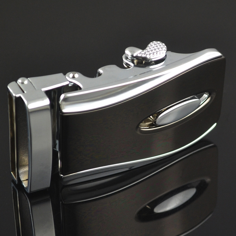 Automatic Buckle New Casual Letter Buckle LY155-0021 Men Plaque Belt Buckles For 3.5cm Ratchet Men's Apparel Accessories