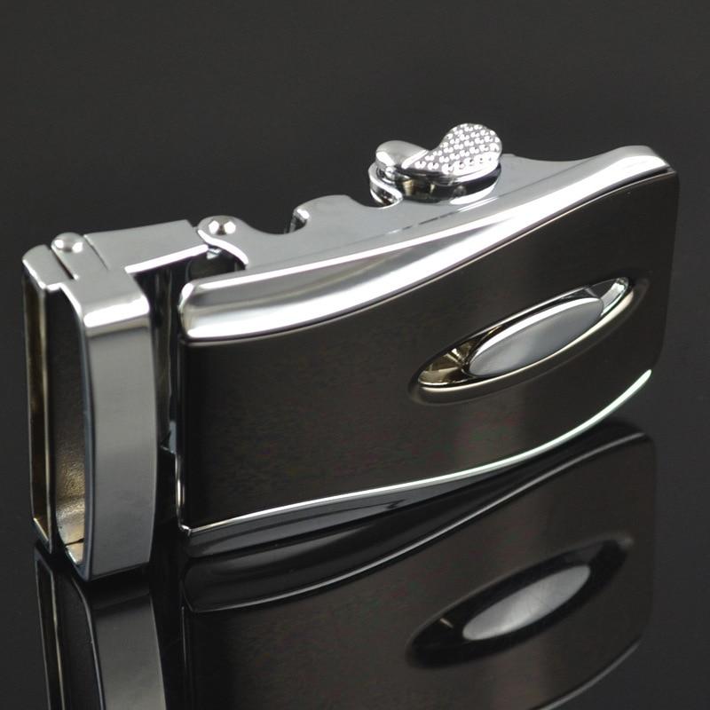 Automatic Buckle New Casual Letter Buckle LY155-0021 Men Plaque Belt Buckles For 3.5cm Ratchet Men's Apparel Accessories