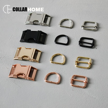 100 sets heavy duty Dee d-rings metal adjustable buckle 1 (25mm) sliders for DIY bag belt strap dog collar accessories 4 colors