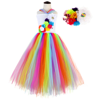 Candy Christmas Lollipop Dress Tutu Ball Gowns for Flower Girl Ankle Length Sleeveless Teen Summer Dresses Girls Fancy Costumes