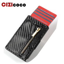 2019 New Credit Card Holder Men And Women PU Leather Wallets Aluminum Single Box RFID Blocking Package ID Holders