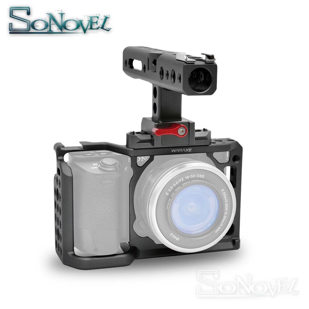 Camera Cage Stabilizer For Sony A6000/ A6300/ A6500/ ILCE-6300/ ILCE-6500/ NEX7 DSLR Cage Mount Microphone Monitor magicrig dslr camera cage with top handle for sony a6000 a6300 a6500 ilce 6000 ilce 6300 ilce 6500 nex7 502