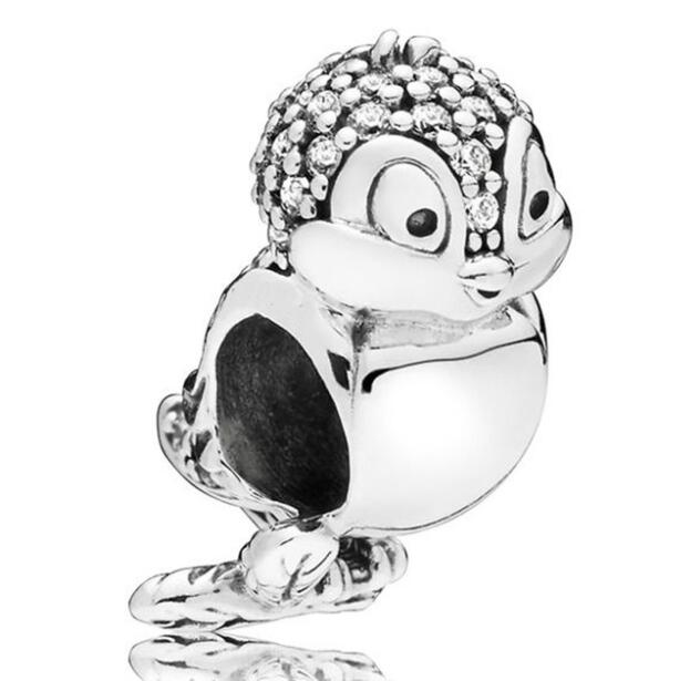 925 Sterling Silver Bead Charm Sparkling Snow Whites Bird With Crystal Beads Fit Pandora Bracelet & Necklace Diy Jewelry925 Sterling Silver Bead Charm Sparkling Snow Whites Bird With Crystal Beads Fit Pandora Bracelet & Necklace Diy Jewelry