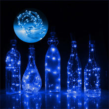 2M 20 LED Bottle Fairy Wedding Decor Bottle Lights Cork Shape Wine Bottle String Romantic Wire String Light Stopper Craft Fairy(China)