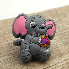 Cute Elephant Kids Bedroom Cabinet Drawer Dresser Knob Anticollision Soft Rubber Cupboard Wardrobe Chest Pull Handle