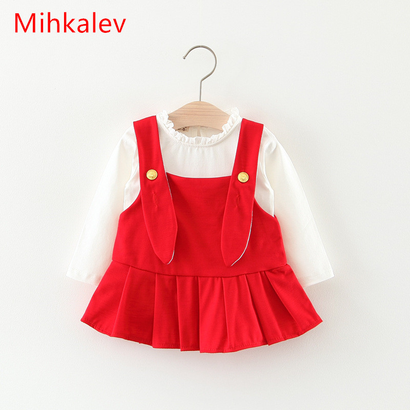 Mihkalev Wholesale Toddler baby girl clothing set kids clothes suits 1-3T tshirts and dress costume( 1dozen include 4 sets ) цены