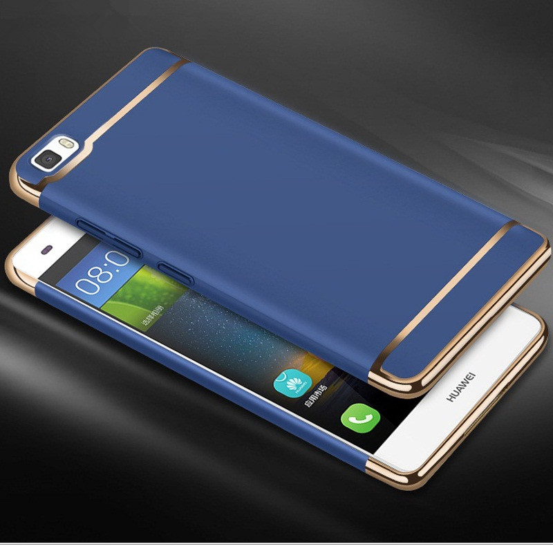 Huawei P8 Lite 2015 Cover Royal Gold Metal TPU Plating Hard Removable 3 In 1 Phone Case Funda For Huawei P8 Lite