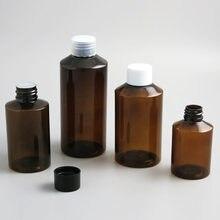 30 x boş Amber yeşil PET şişe plastik kap 50 100 150 200 ml kozmetik konteyner 5oz büyük temizleyici krem sıvı şişe