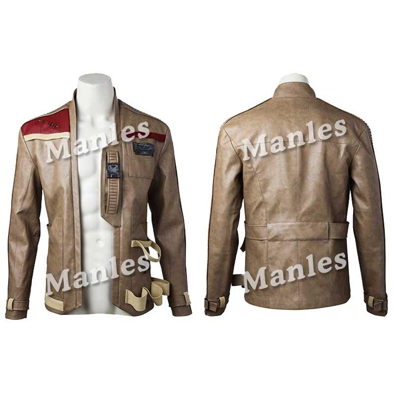 Star Wars The Last Jedi Finn Jackets Coat Cosplay Adult Men Jacket Overcoat Halloween Costume for Adult Men Custom Made