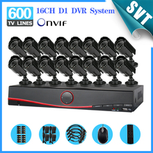 NVR 600TVL CCTV  out of doors Waterproof IR Cameras 16ch 3G DVR recorder Package 16 channel safety video surveillance system SNV-51