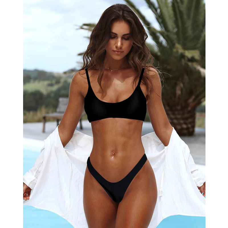Sexy Bikini Set High Cut Padded Two Pieces Swimsuit Female
