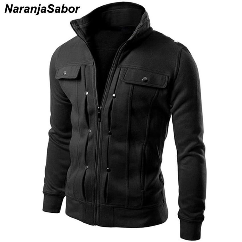 NaranjaSabor Spring Autumn Men's Cardigan Multi Button Hoodies Fashion Sweatshirt Casual Male Tracksuits Men Brand Clothing N432(China)