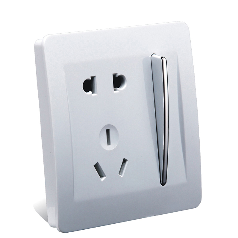 New Luxury Wall Electrical Socket 5 Hole Power Outlet With 1 Gang 2 ...