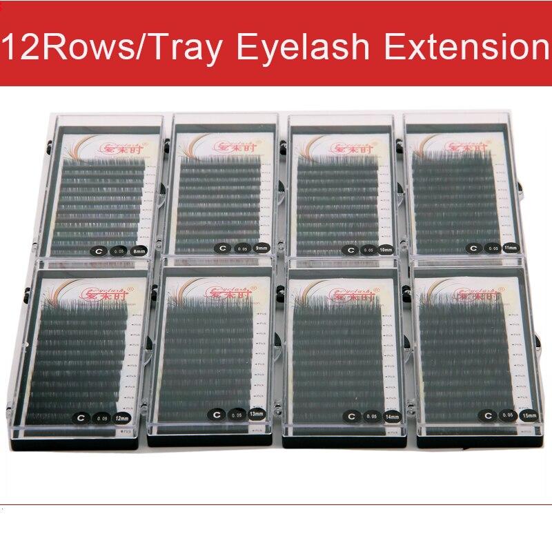 NEWCOME 8 Trays Individual Eyelash Extension False Eyelashes Korea Silk Volume Fake Eye Lashes Curl BCD Professional Eye Lashes