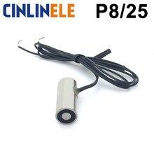 D8mm * H25mm 0.2KG 2N gospodarstwa elektryczny magnes podnoszenia elektromagnes elektromagnetyczny DC 6V 12V 24V niestandardowe na zamówienie