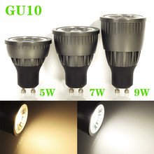 50pcs/lot 2014 New Lamps GU10 5W 7W 9W Driverless Dimmable led COB Spotlight Bulbs LED Ceiling light/down light Cool White