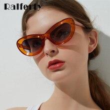 6c3424e7581c2 UV400 Ralferty 2018 óculos de Sol Da Moda Para As Mulheres Retro Preto Olho  de Gato Óculos de Sol Feminino Doces Acessórios Shad.