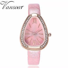 Fashion Women Rhinestone Watches Casual Leather Irregular Shape Watches Ladies Clock Relogio Feminino Dropshipping