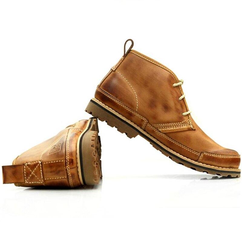 Sapatos Quentes Da Brown De Tornozelo khaki Fur grey Homens light Martin Do light Retro Super Redondo Hot Trabalho Fur Botas Grey Dedo Pé Segurança Os Brown Inverno Soldados Algodão Pelúcia TwcqaE