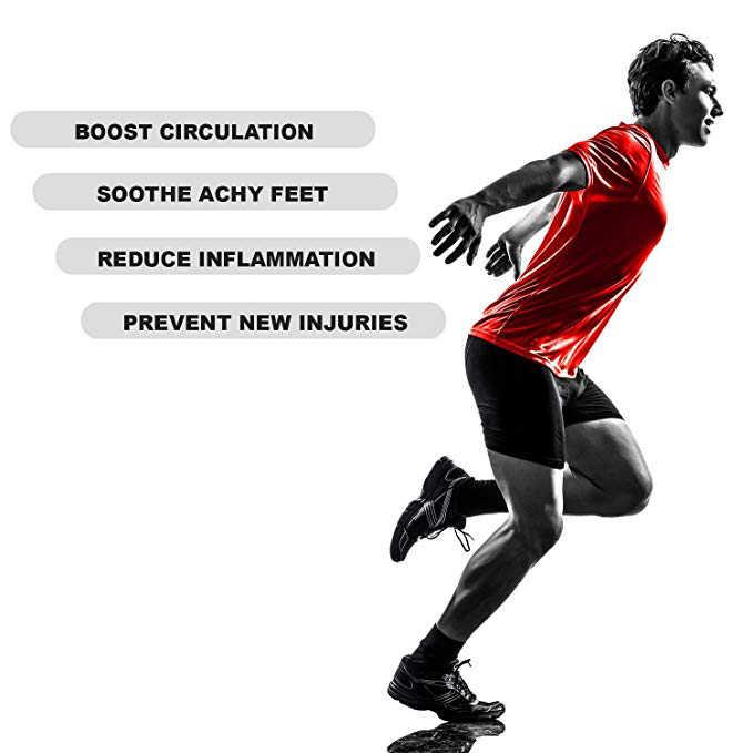 ドロップシッピングスポーツ足首保護スリーブブレース圧縮サポートスリーブ足底筋膜炎足の靴下の足首足サポート