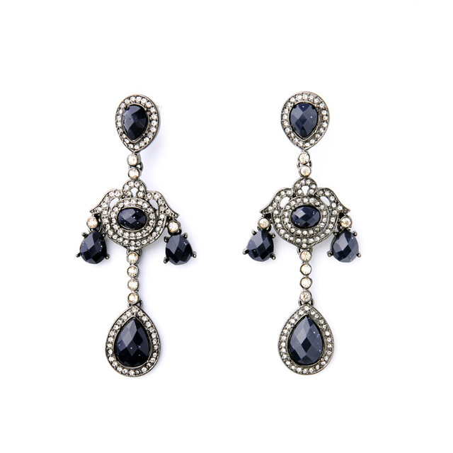 Elegant chandelier earrings online shopping india deep blue large elegant chandelier earrings online shopping india deep blue large evening dress jewelry aloadofball Image collections