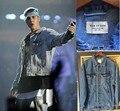 2016 New Arrival hiphop brand clothing men torn jackets coat kanye west justin bieber fear of god jean denim jacket label