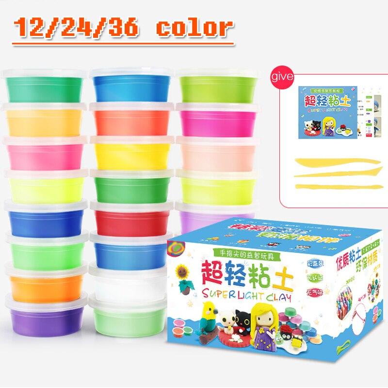 Los niños de la arcilla de polímero inteligente handgum color de piel magnético 12 a 36 color de sonido de la luz no tóxico juguetes de goma para los niños