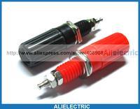 50 Pcs/lot Binding Post for 4mm Banana Plug Connector Red Black Color