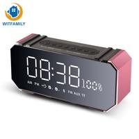 Smart Wireless Bluetooth Digital Alarm Clock FM Radio Music Speakers Desktop LED Display Temperature Electronic Table Clock
