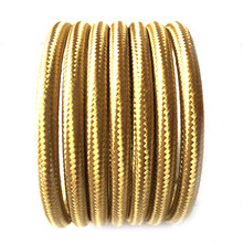 ROUND 2 Core Golden Vintage Braided Wire Braided Fabric Cable Lighting Lamp Flex(China)
