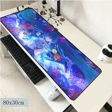 Hatsune Miku mouse pad 800x300x3mm mouse mat laptop Christmas padmouse