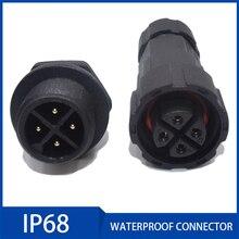 1pc Waterproof Connector IP68 Aviation Plug Socket 2/3/4/5/6/7/8/9/10/11/12 Pin Industrial Electrical Cable Connectors стоимость
